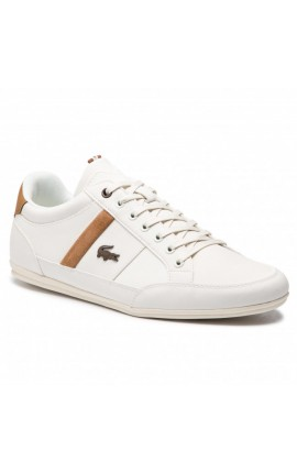 Lacoste CHAYMON 119 5 CMA OFF WHT/LT BRW SYNTHETIC 7-73CMA00082R2 ΛΕΥΚΟ-ΤΑΜΠΑ