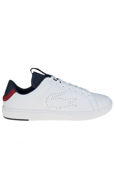 Lacoste CARNABY EVO LIGHT-WT 1191SMA WHT/NVY/RED LTH 7-37SMA0015407 ΛΕΥΚΟ