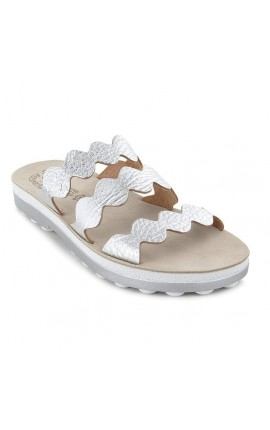 FANTASY SANDALS S 9012 WAVES SILVER VOLCANO ΑΣΗΜΙ