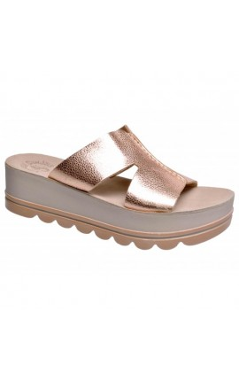 FANTASY SANDALS S 6008 AMELIA SMOKE PATMOS ΡΟΖ-ΧΡΥΣΟ
