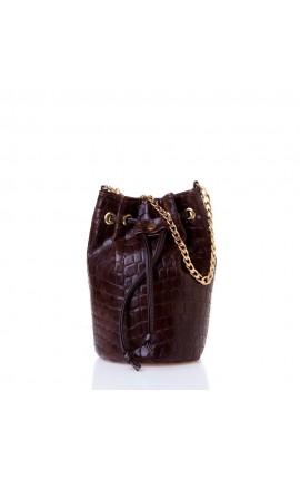 Sante Bucket Bag W2300-1-32 ΚΑΦΕ ΚΡΟΚΟ MAT