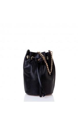 Sante Bucket Bag  W2300-2-01 ΜΑΥΡΟ