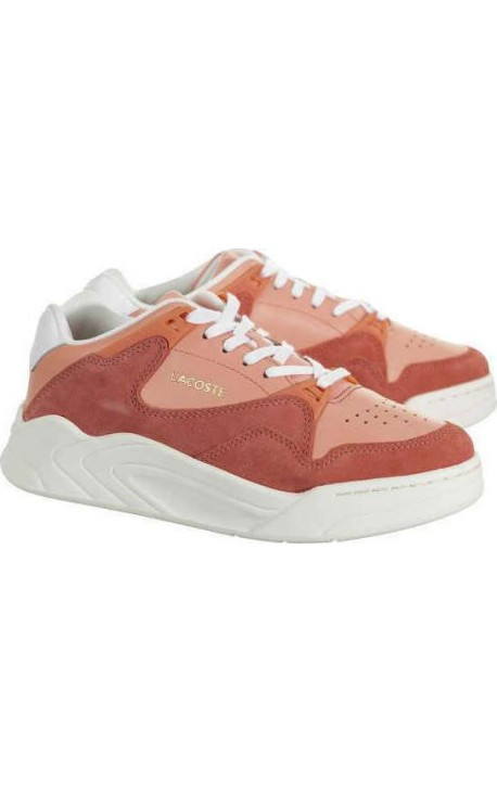 Lacoste Court Slam 7 39SFA0033PW1 120 4 US SFA PNK Off Wht Γυναικεία Δερμάτινα Sneakers