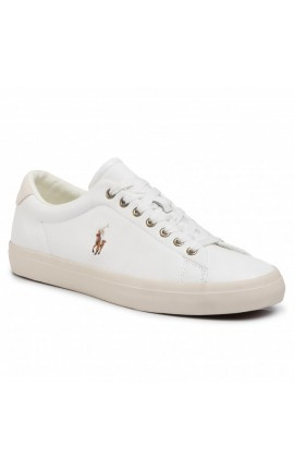 POLO RALPH LAUREN Longwood Leather Trainer - RL White - 816785024004