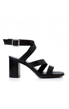 Sante Sandals 20-206-01 ΜΑΥΡΟ