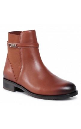 TOMMY HILFIGER Block Branding Flat Boot FW0FW05155 Pumpkin Paradise GOW