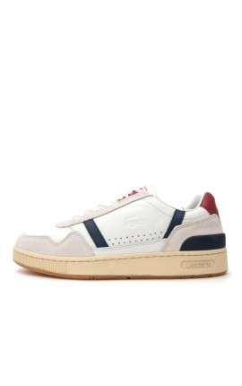 Lacoste T-Clip 7-39SMA00578R1 Off White/Navy/RedΑνδρικά Sneakers