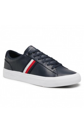 TOMMY HILFIGER Corporate Leather Sneaker FM0FM03397 Desert Sky DW5