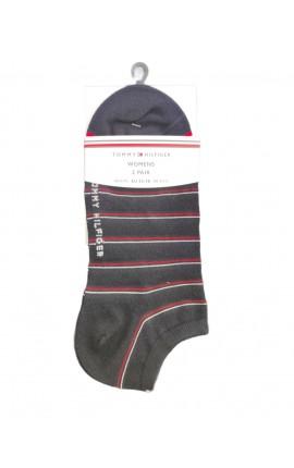 TOMMY HILFIGER 100002818 002 σε σκουρο μπλε Σετ 2 ζευγάρια κοντές κάλτσες γυναικείες