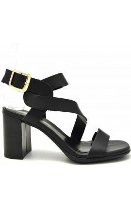 Sante Sandals 21-205-01 ΜΑΥΡΟ