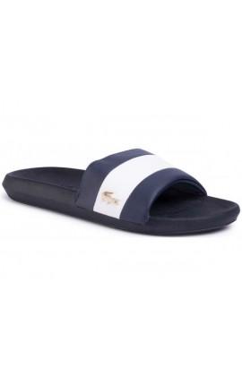 LACOSTE Men's Croco Slide - Navy/White 7-39CΜA0061092