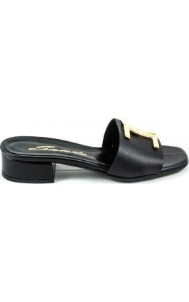 Sante Sandals 21-201-01 ΜΑΥΡΟ