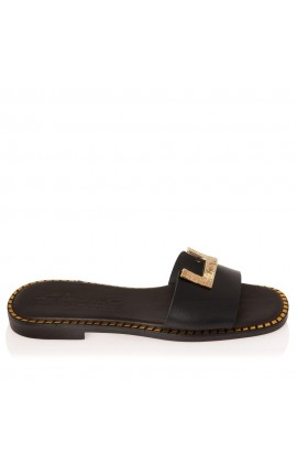 Sante Sandals 21-302-01 ΜΑΥΡΟ
