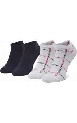 TOMMY HILFIGER 100002658 White 005 Σετ 2 ζευγάρια κοντές κάλτσες ανδρικές