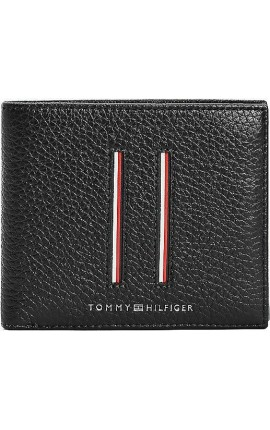 Tommy Hilfiger TH Downtown CC And Coin Wallet AM0AM07632 BDS Black